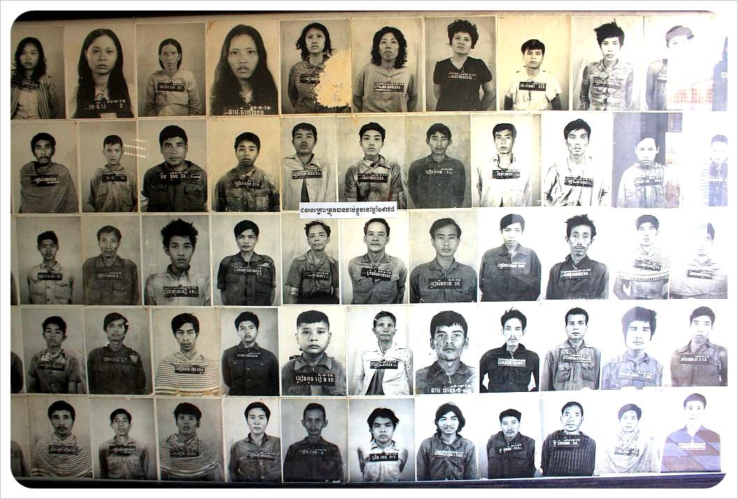 photos of victims at tuol sleng prison