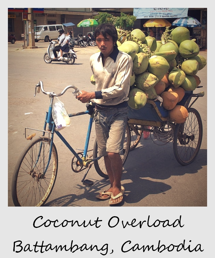 polaroid of the week cambodia battambang coconut vendor