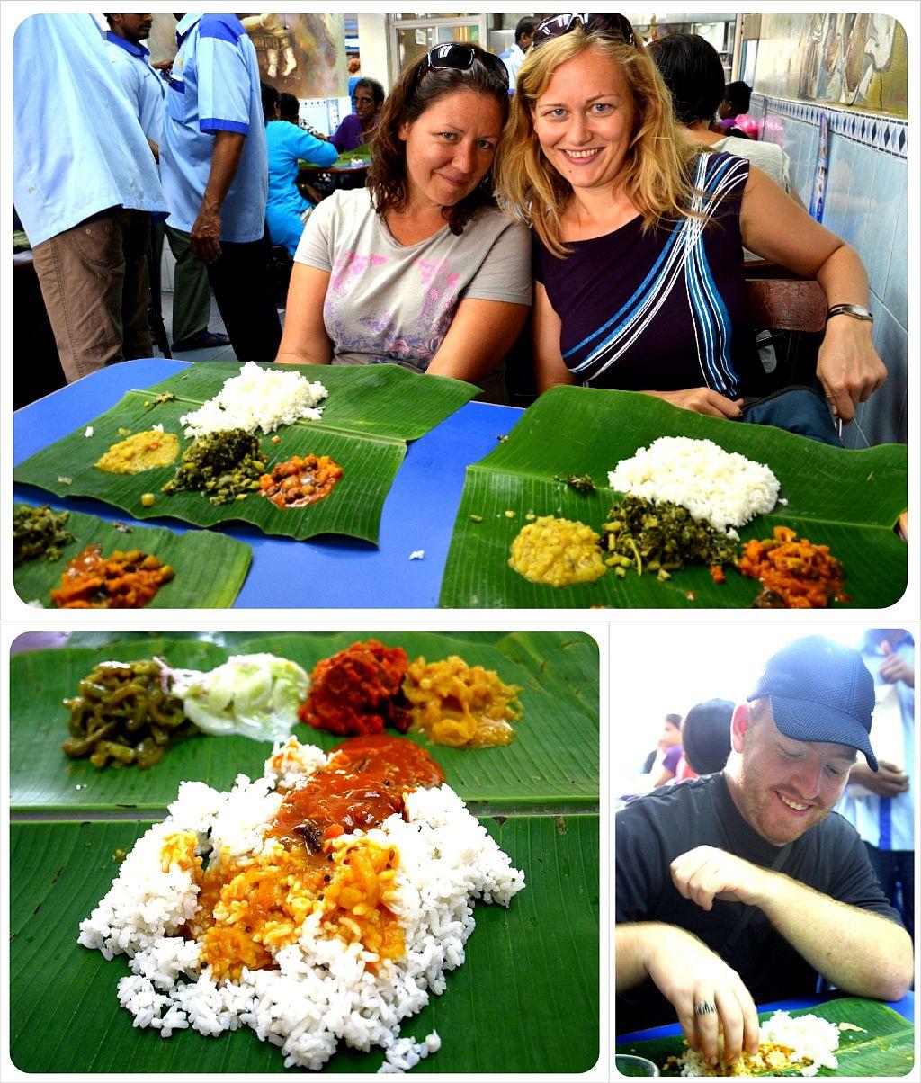 banana leaf rice in kuala lumpur malaysia