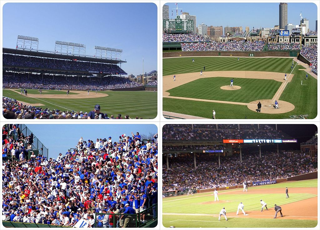 baseball at wrigley field in chicago