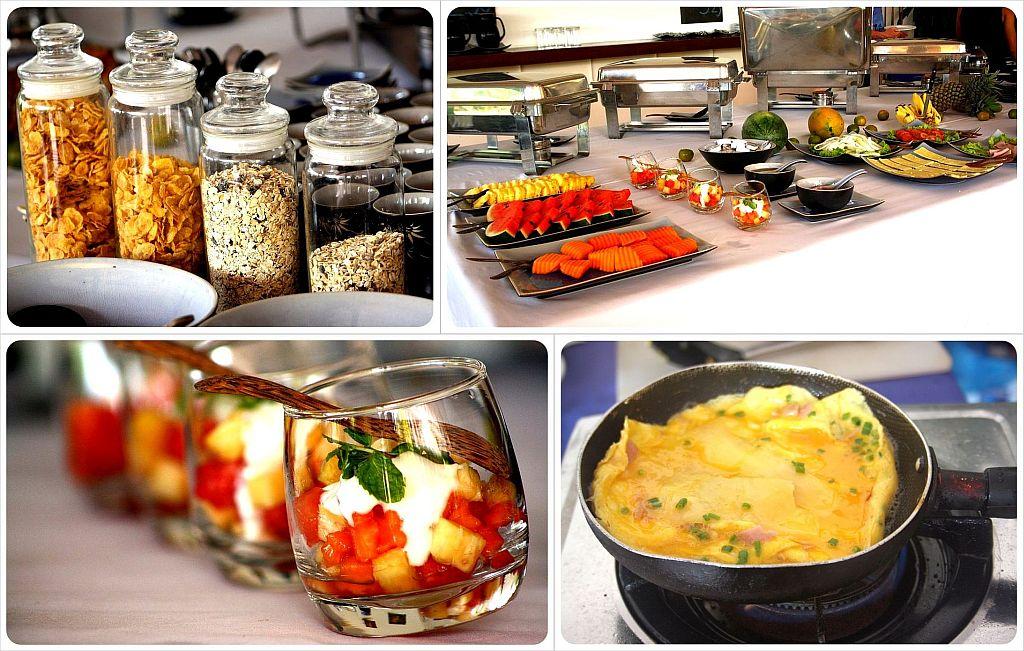 beach club resort sihanoukville breakfast buffet