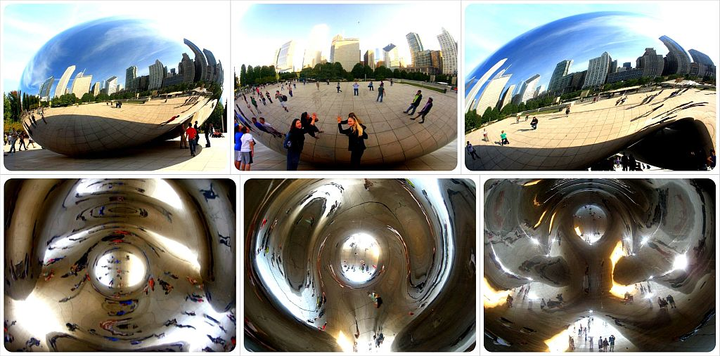 chicago the bean cloudgate reflections