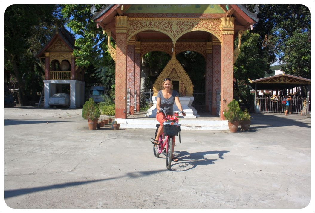 dani cycling in luang prabang