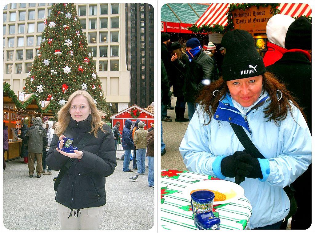 dani & jess at the christkindl market in chicago
