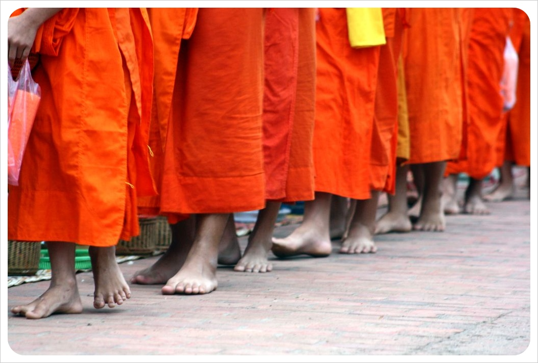 luang prabang monks alms giving