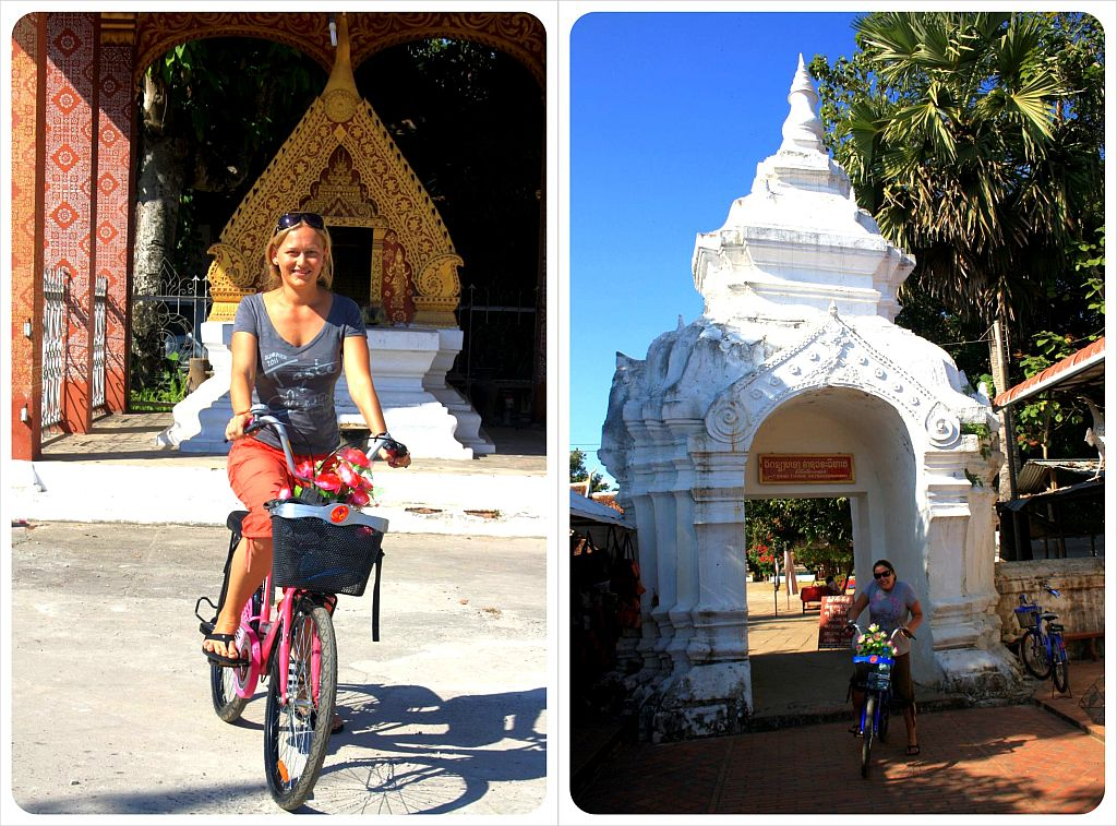 dani & jess cycling in laos