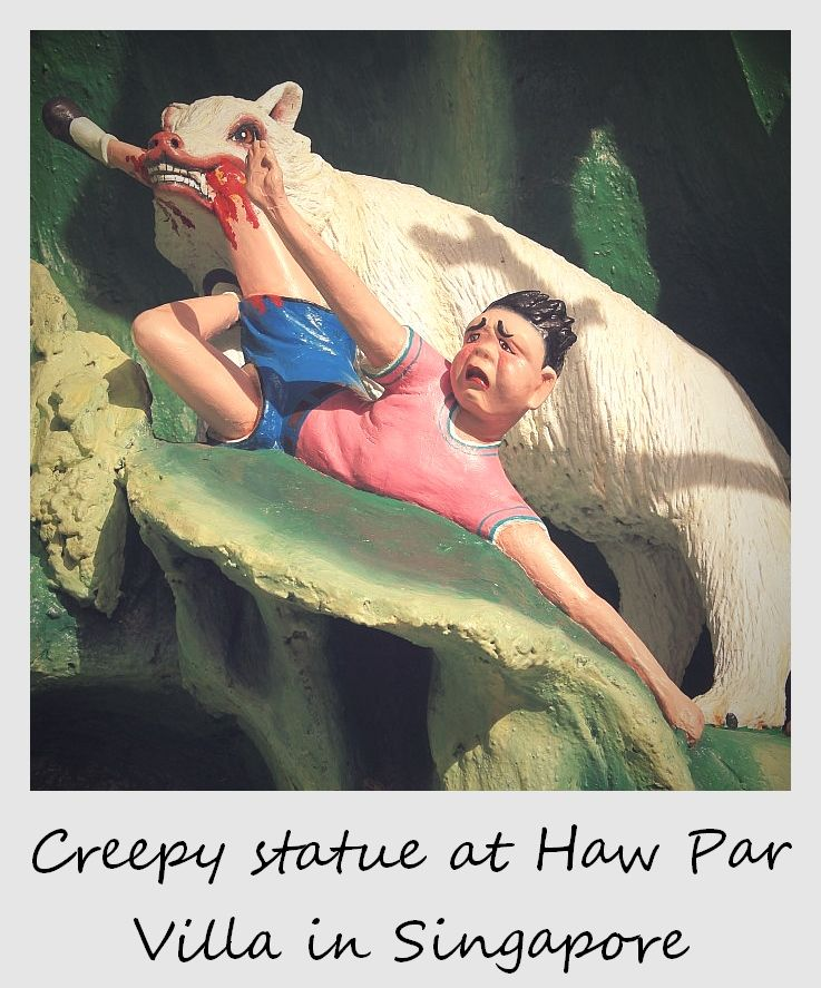 polaroid of the week singapore hawper villa statue