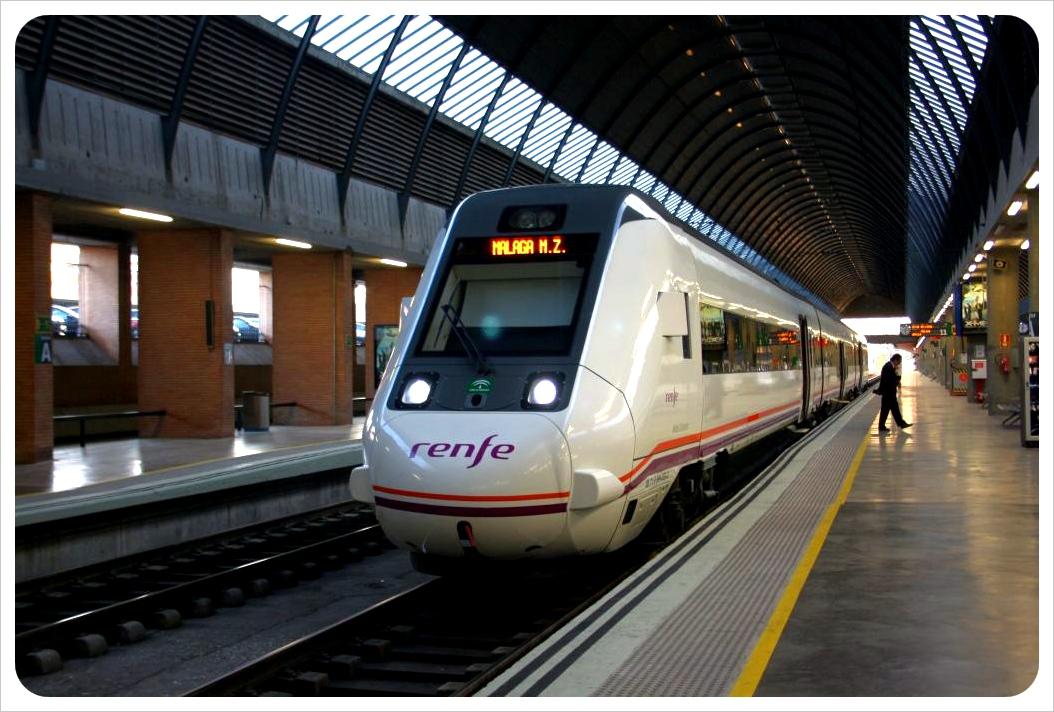 train in malaga