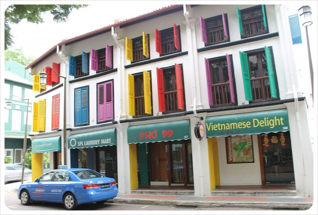 colorful building in singapore