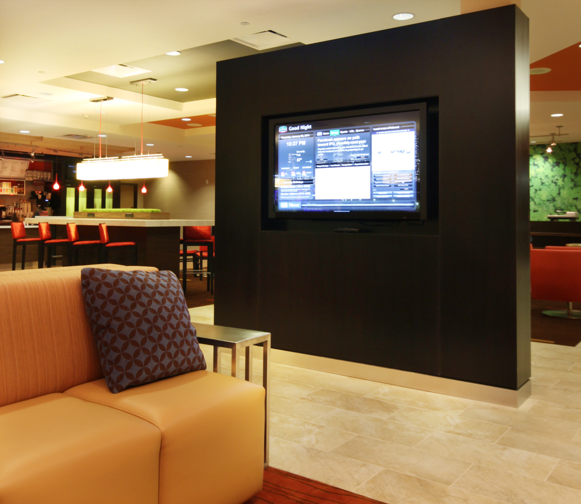 Courtyard by Marriott refurbished Lobby GoBoard