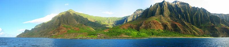 Na Pali Coast Kauai from the ocean