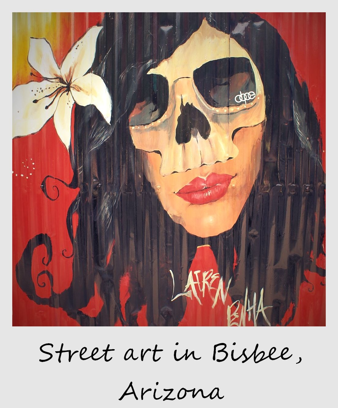 polaroid of the week usa arizona bisbee street art