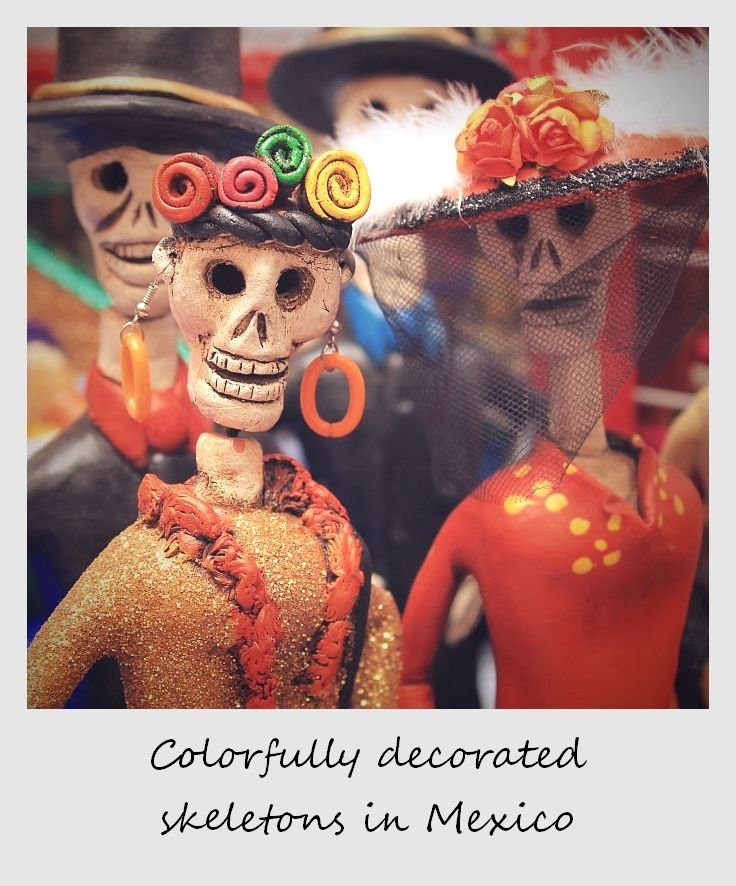 polaroid of the week mexican calacas skeletons