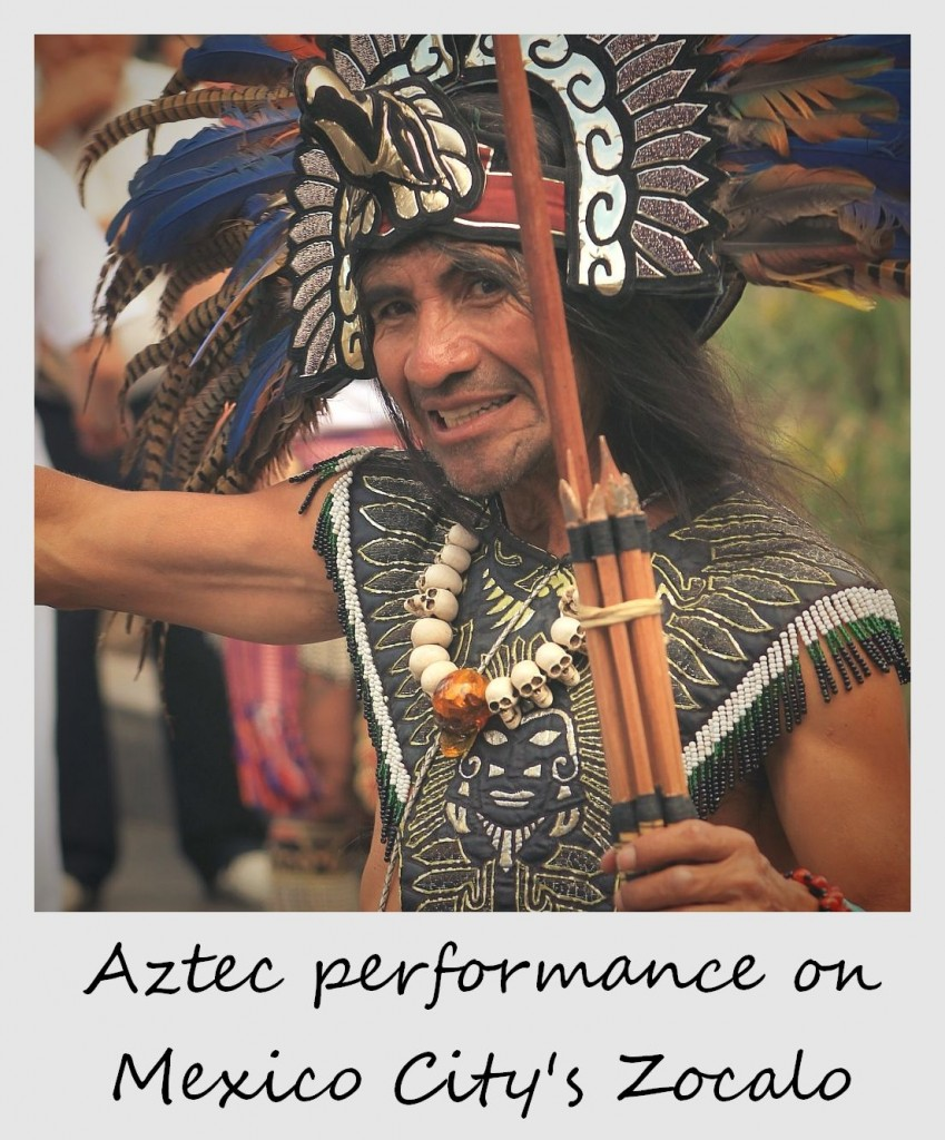 polaroid of the week mexico city aztec performer