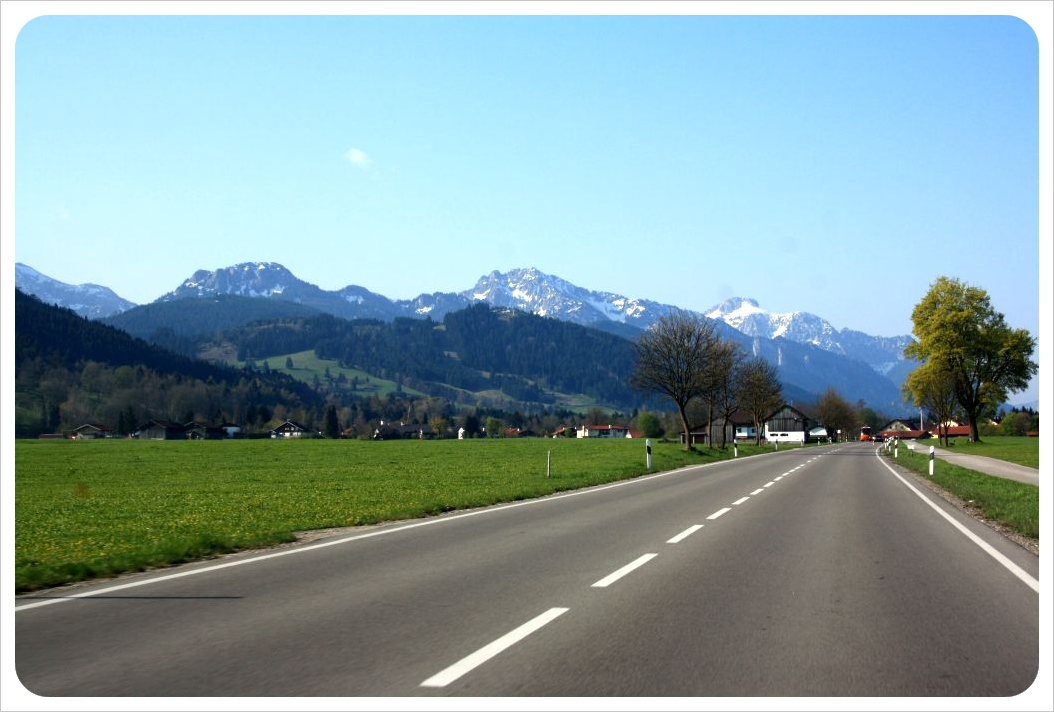 road to the bavarian alps