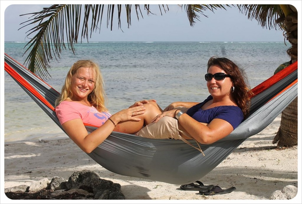 dani and jess in the eno hammock