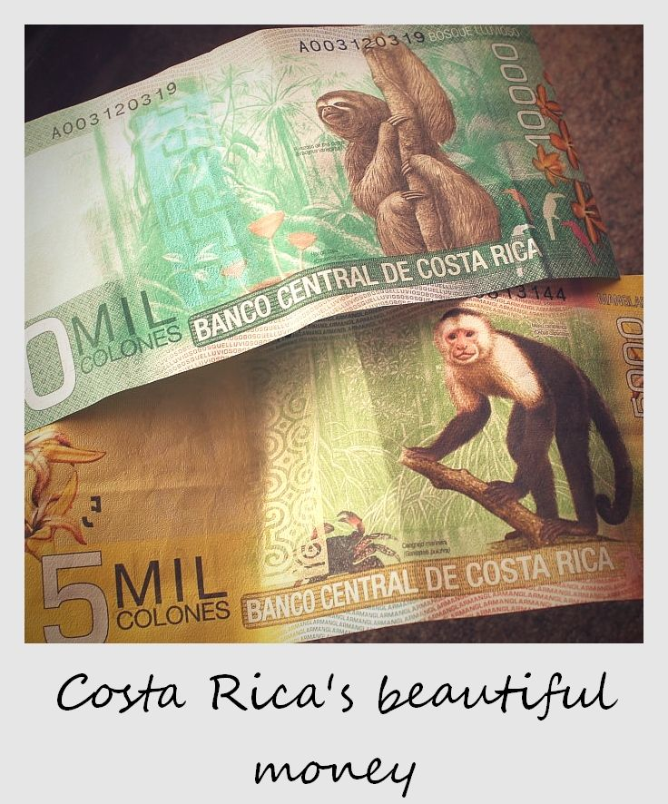 polaroid Costa Rica new bank notes