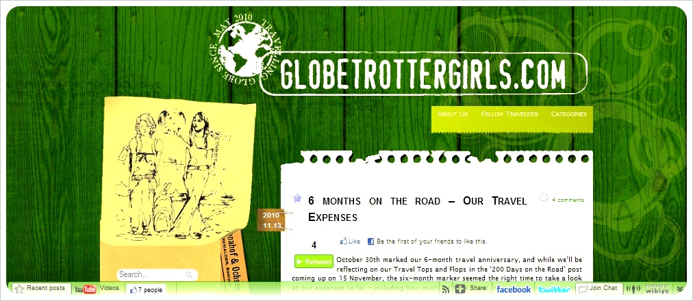 Globetrottergirls old screenshot