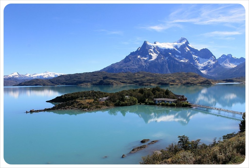 torres del paine lake and island