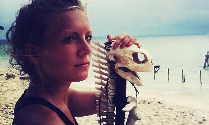 Katrine on the set of Survivor in Malaysia 2013
