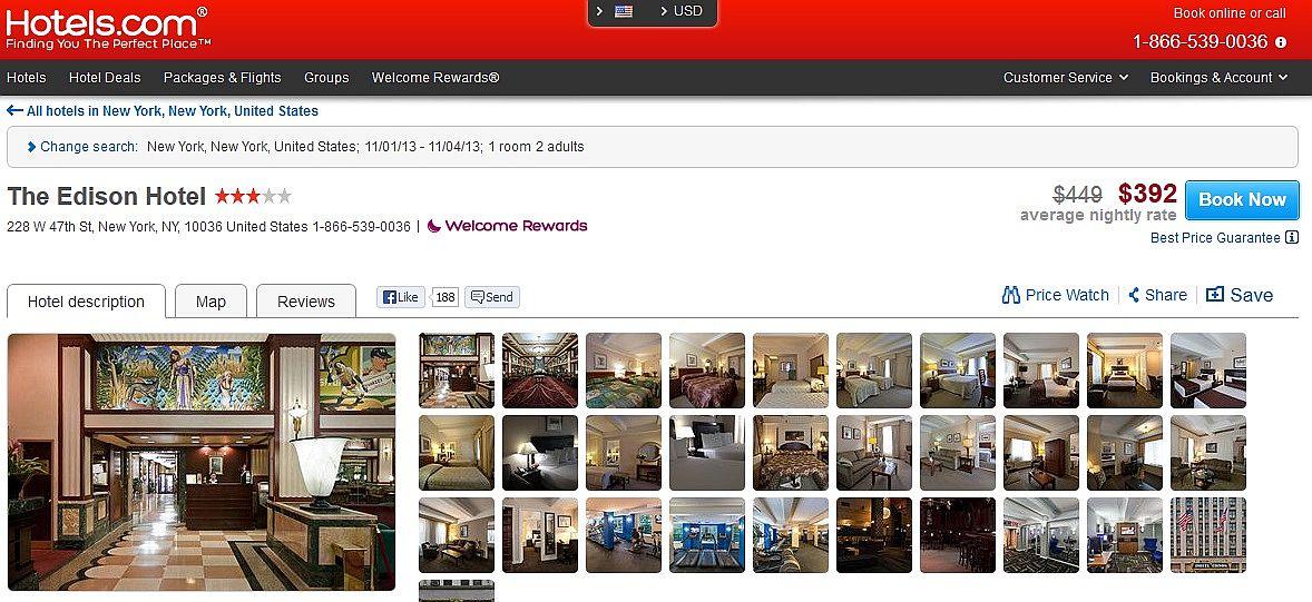 travelpony hotels.com rates