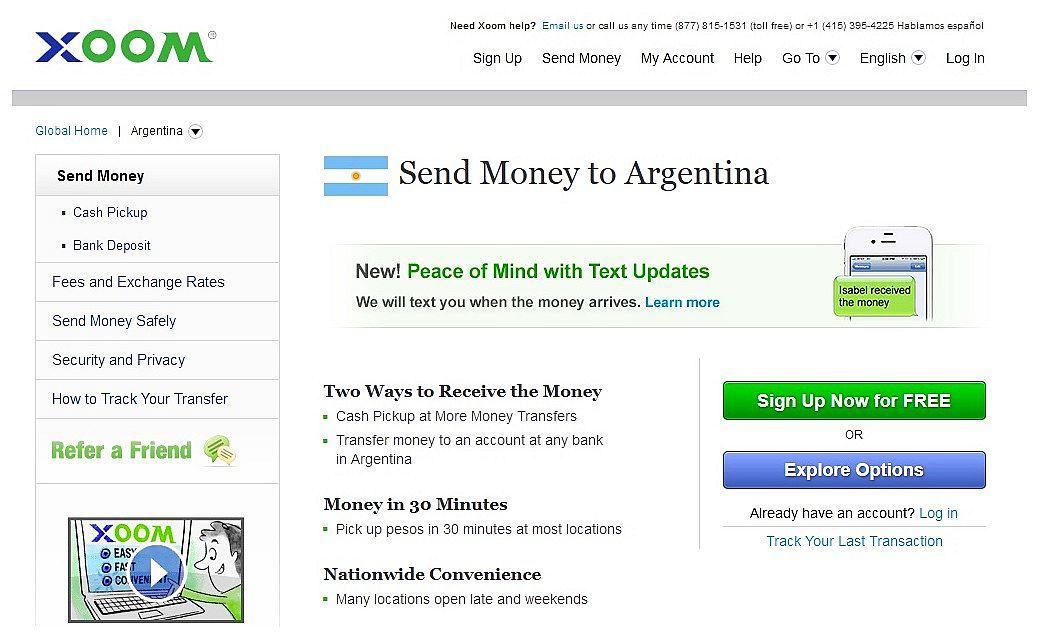 xoom argentina