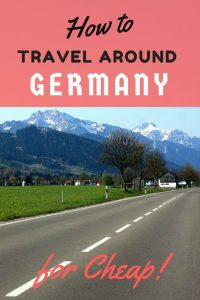 travel germany on the cheap
