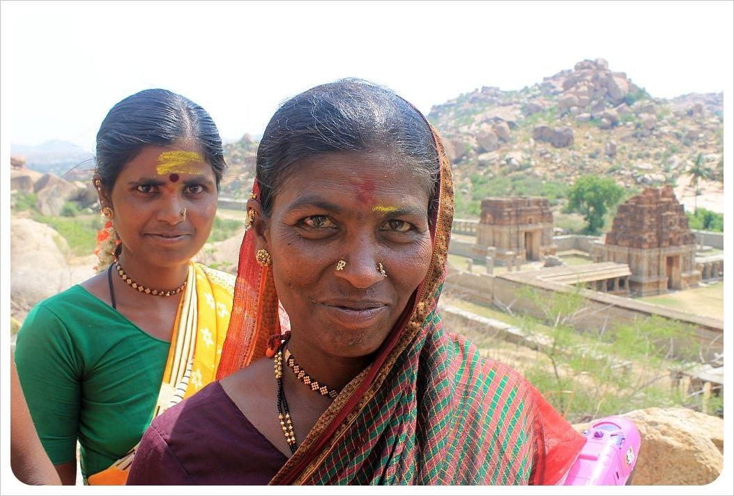 indian women in hampi