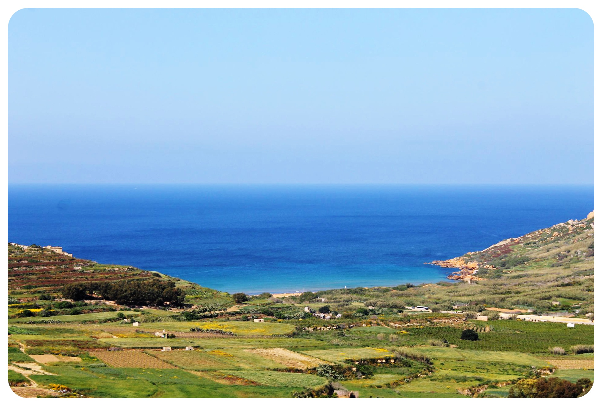 gozo view with mediterranean