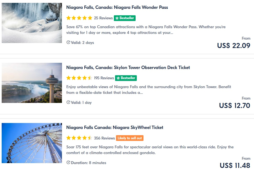 Best tours Niagara Falls