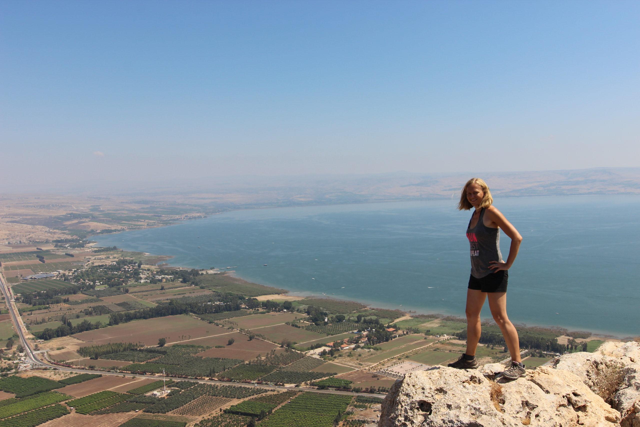 Dani hiking in Israel