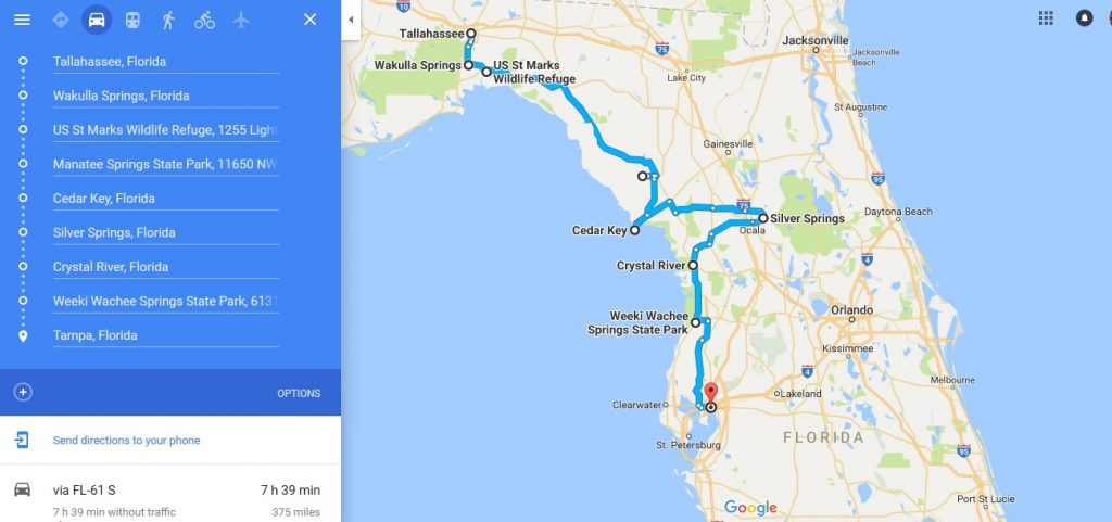 Road Trips In Florida