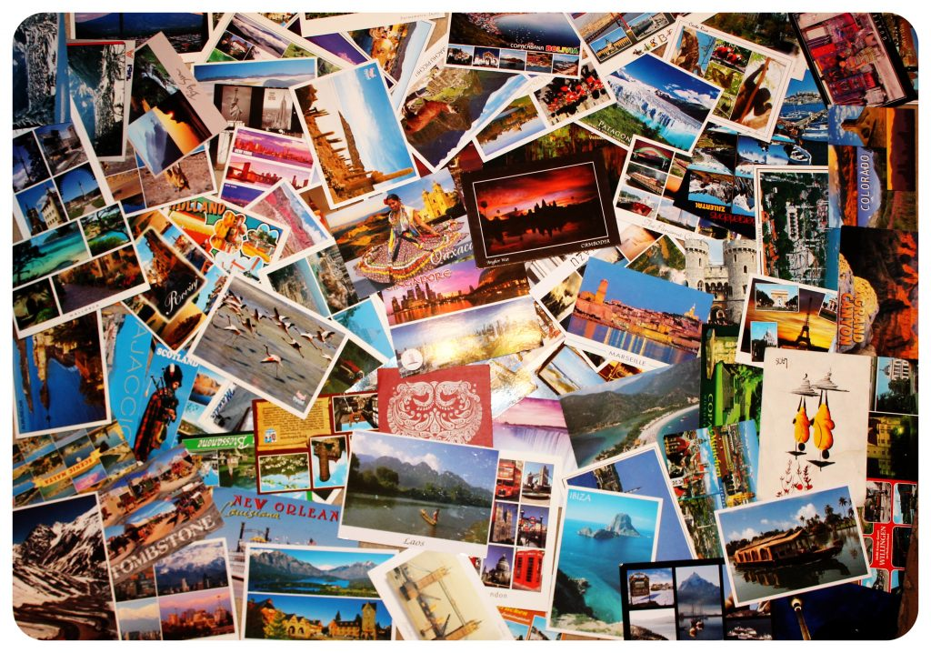 Postcard PIle Box of 25 Different Photo Greetings to Mail a Smile to Someone