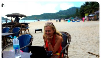 dani working in palolem