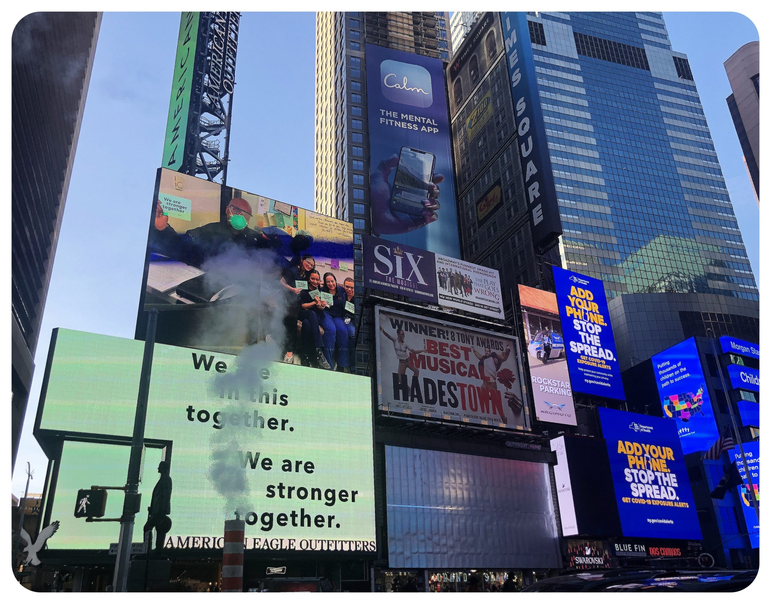 Times Square billboards October 2020 NYC