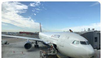 Delta plane Frankfurt airport